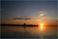 Фотографии закатов. Стрелка Нижний Новгород.