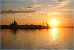 Фотографии закатов. Стрелка Нижний Новгород. Собор Александра Невского