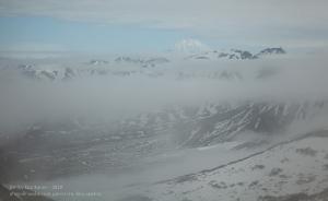 Вулканы Камчатки. Корякская сопка. Вид с Вилючинского перевала