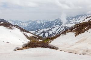 Камчатка. У Мутновского вулкана. Одинокий гейзер