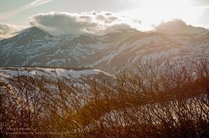 Камчатские горы. Вечерний пейзаж