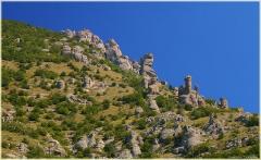 Демирджи. Фигуры выветривания. Крым. Горный пейзаж. Фотографии.