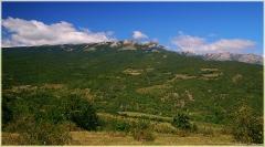 Горы недалеко от села Генеральское. Крым. Горный пейзаж. Фотографии.