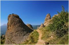 Гора Демерджи. Тропинка к вершине. Крым. Горный пейзаж. Фотографии.