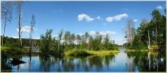 Свято озеро. Красивый летний пейзаж.  Панорамы высокого разрешения