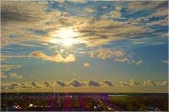 Облака в небе после ливня