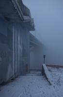 Фото с густым туманом. Канавинский мост в Нижнем Новгороде. Фото
