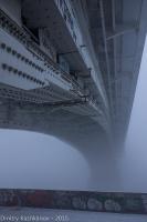 Пролет Канавинского моста в тумане