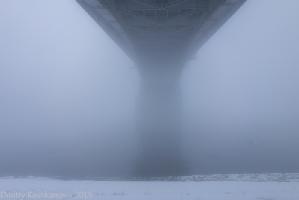 Вид с берега Оки на Канавинский мост. Фото снизу