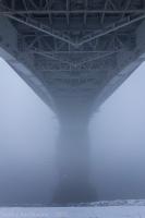 Густой туман над Окой. 15 декабря 14:00