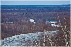 Весенние пейзажи. Река Клязьма и женский монастырь. г. Гороховец