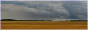 Осенняя панорама. Поля и тучи. Непогода. Скоро зима. Красивые осенние фото
