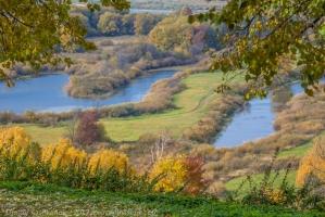Синие озера. Красивые фото осени