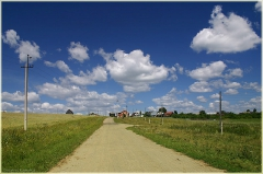Дорога в поле. Деревенский пейзаж. Красивое небо. Красивые летние фото. 11 год