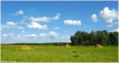 Красивое фото со стогами сена. Самые красивые фото лета 2011