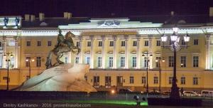 Здание Сената и Медный всадник. Вечернее фото