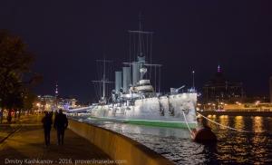 Крейсер Аврора. Вечернее фото