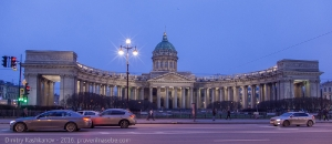 Казанский собор. Фото в сумерках