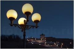 Нижне-Волжская набережная. Фонари. Вид на Чкаловскую лестницу