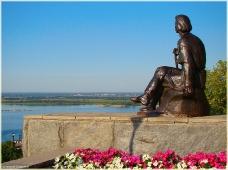 Виды Нижнего Новгорода. Памятник А.М.Горькому