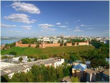 Виды Нижнего Новгорода. Панорама Нижегородского Кремля