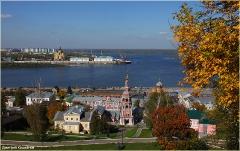 Нижний Новгород осенью. Набережная Федоровского. Стрелка
