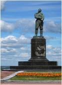 Памятник Валерию Чкалову. Фотографии Нижнего Новгорода