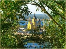 Городской пейзаж. Собор Александра Невского. Нижний Новгород