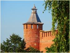 Виды Нижнего Новгорода. Коромыслова башня Нижегородского Кремля