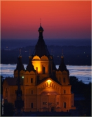 Фото Собора Александра Невского. Ночной Нижний Новгород