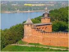 Виды Нижнего Новгорода. Часовая башня Нижегородского Кремля