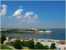 Нижний новгород. На стрелке далекой. Достопримечательности Нижнего Новгорода.