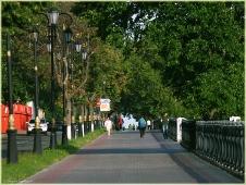 Верхневолжская набережная. Утро в городе. Фото Нижнего Новгорода