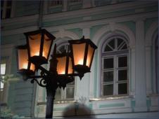 Фонари на улицах. Ночной город. Достопримечательности Нижнего Новгорода. Фото