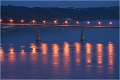 Мызинский мост. Ночное фото. Виды Нижнего Новгорода. Достопримечательности. Фото