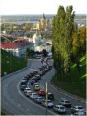 Городской пейзаж. Зеленский съезд. Нижний Новгород. Собор Александра Невского