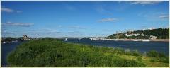 Панорама. Мост через Оку. Мужской монастырь. Фото Нижнего Новгорода