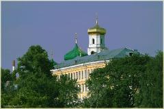 Купол собора на улице Ильинской. Фото Нижнего Новгорода. Городской пейзаж