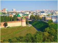 Виды Нижнего Новгорода. Вид на Нижегородский Кремль и центр города