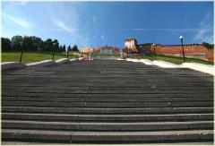Сколько ступенек на Чкаловской лестнице. Фото Нижнего Новгорода. Городской пейзаж
