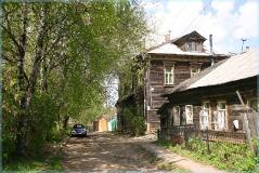 Улица Большие Овраги. Деревянные дома. Брусчатка. Виды Нижнего Новгорода. Достопримечательности. Фото