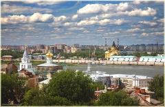 Фото Нижнего Новгорода. Вид а Собор Александра Невского от Нижегородского кремля