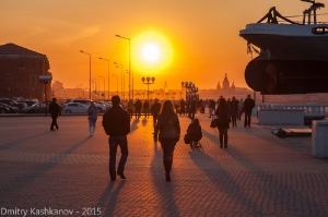 Нижне-Волжская набережная. Вечерняя прогулка. Фото