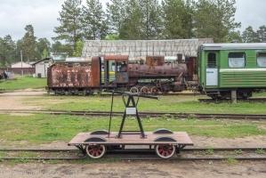 Ручная дрезина. Фото из музея в Переславле-Залесском