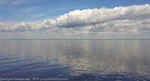 Фото Финского залива. Облачный день. Штиль